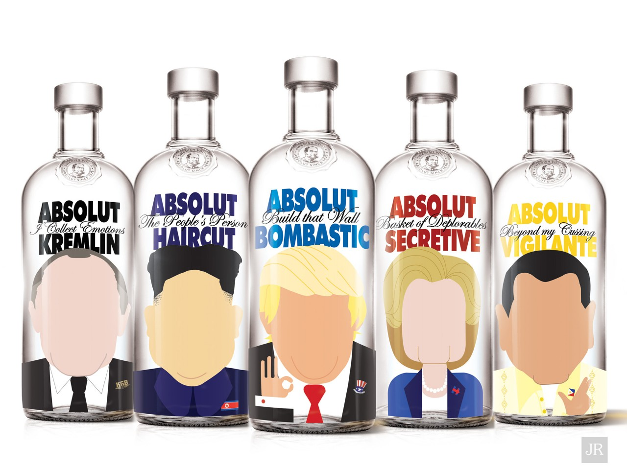 Absolut Vodka bottles reimagined as world leaders photo