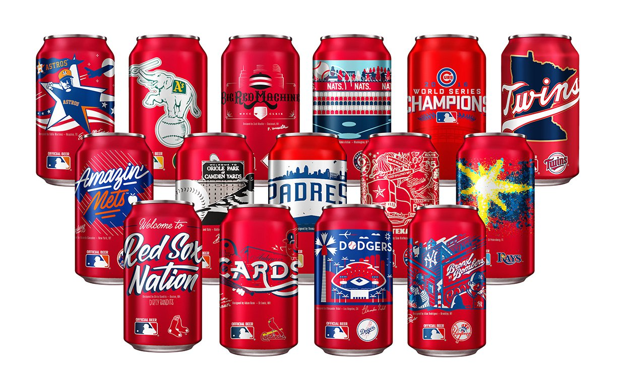 Play Ball! Look For Your Favorite Mlb Team On New Budweiser Cans photo