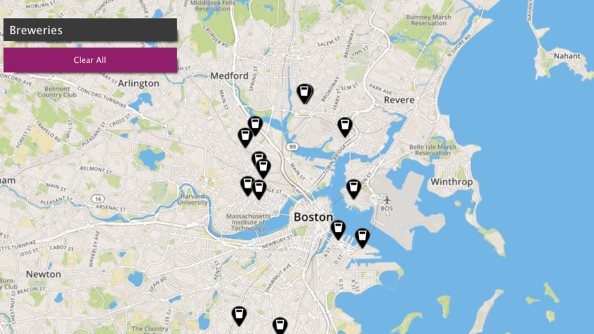 Use This Map To Take A Tour Of Boston Breweries photo
