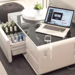 This Smart Coffee Table Comes With A  Built In Fridge photo