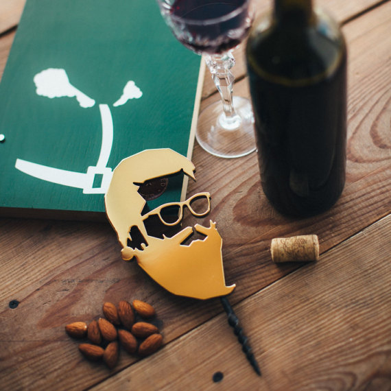 bearded screw Corkscrews and Bottle Stoppers for Hipsters Who Love Wine