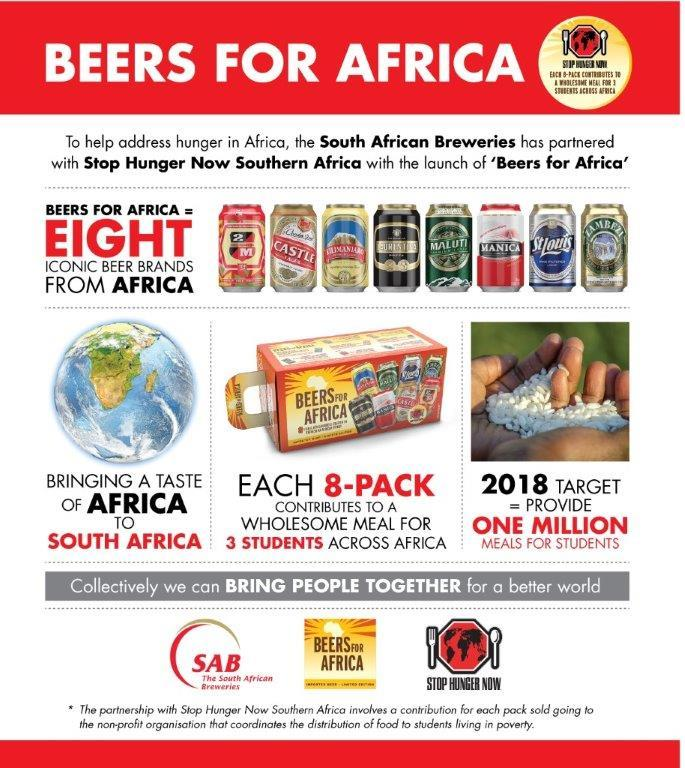 Beers for Africa campaign aims to feed 1 million hungry students photo