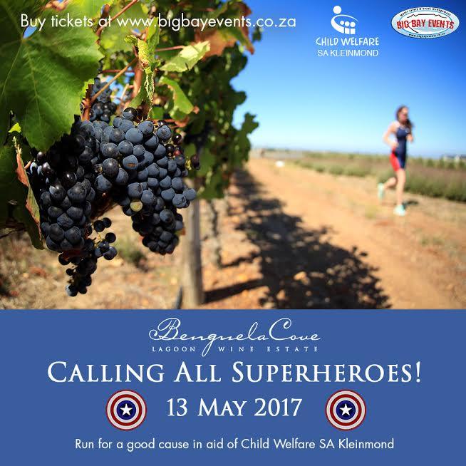 Benguela Cove Lagoon Wine Estate to host Superhero Fun Run in aid of Child Welfare SA Kleinmond photo