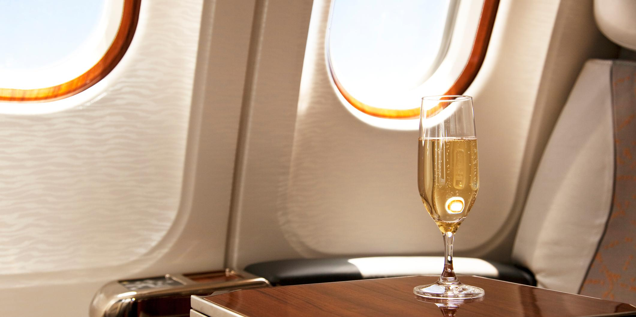 This Is Why You Should Always Choose Wine Instead Of Coffee When Flying photo