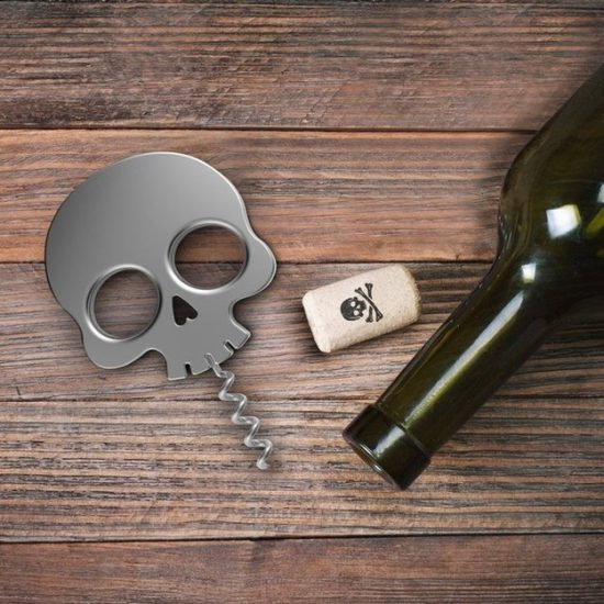 skull e1493121095663 Corkscrews and Bottle Stoppers for Hipsters Who Love Wine
