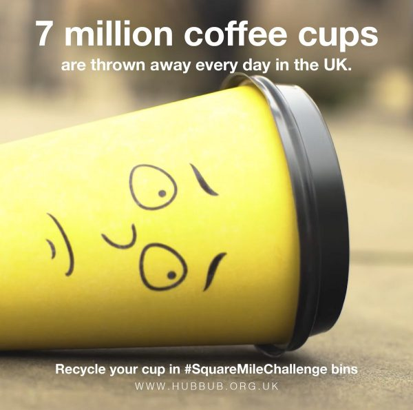 London Gets Giant Coffee Cups to Recycle 7 Million Small Ones photo