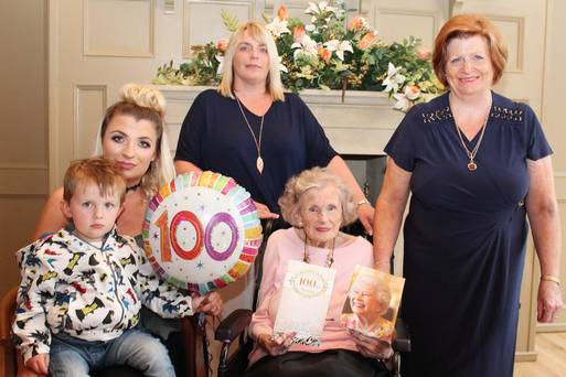 Spirited Gwen Toasts Her 100th Birthday With Family And A Wee Drop Of Whiskey photo