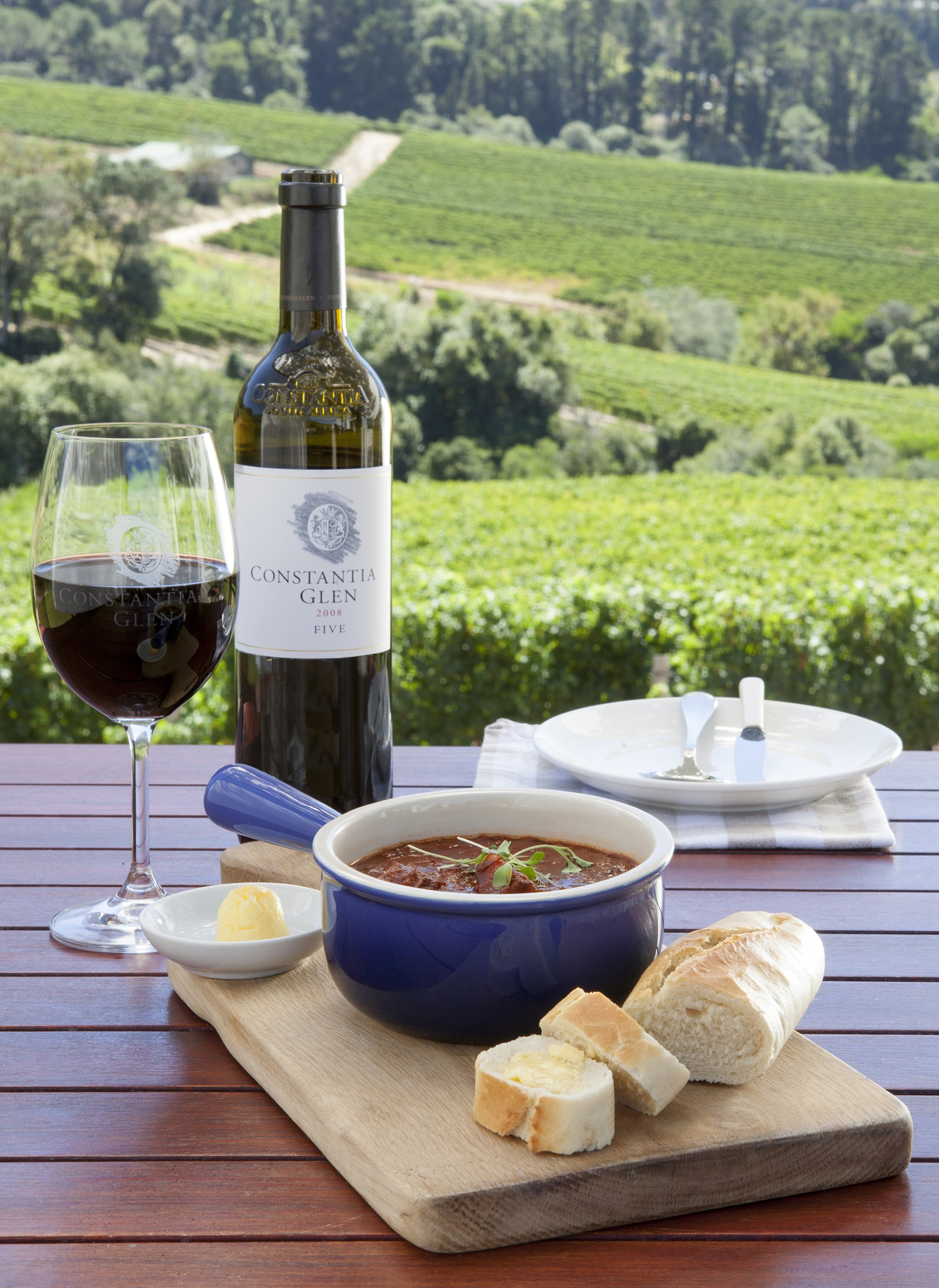 Rustic Winter Soup Remedy At Constantia Glen photo