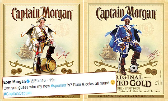 England Cricket Captain Eoin Morgan Announces Deal With Captain Morgan photo