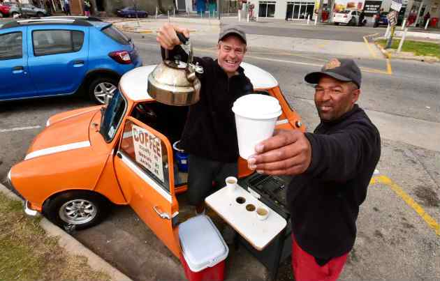 Entrepreneur provides Port Elizabeth with its daily caffeine fix from his Mini Car Bar photo