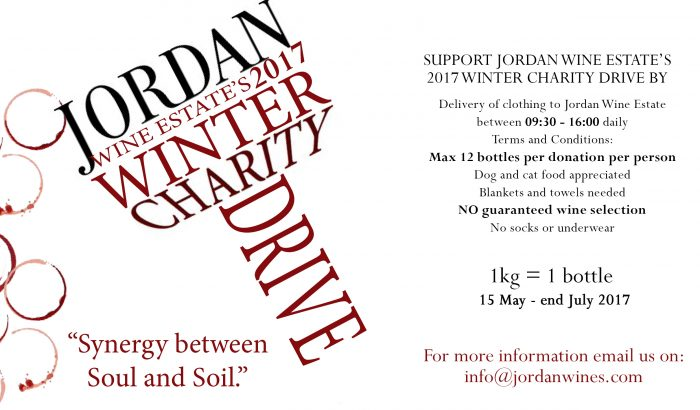 Support the Winter Charity Drive at Jordan Wine Estate photo