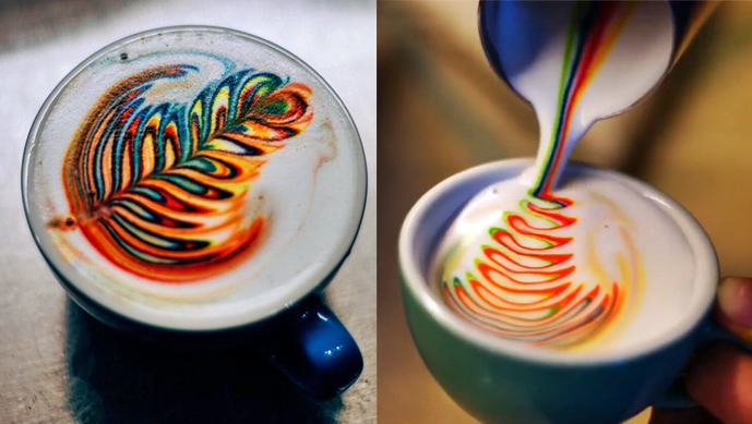Coloured coffee a steaming success photo