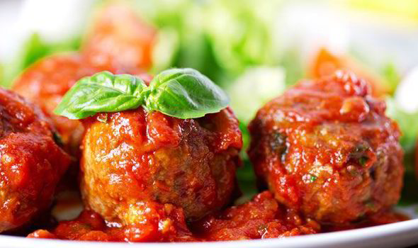 Baked Ostrich Meatballs in Tomato Sauce photo