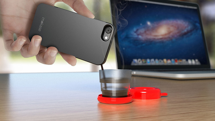This phone case turns your smartphone into a portable Espresso maker photo