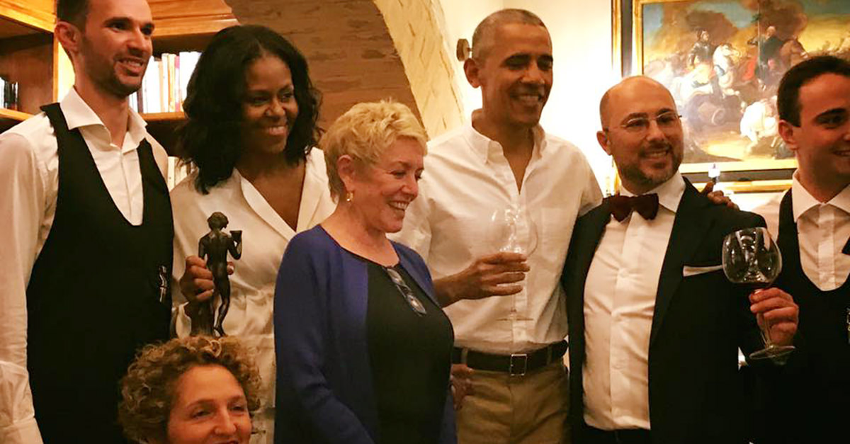 Obama Is In Italy And He Really Loves The Wine photo