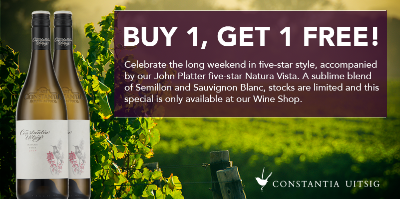 2 For 1 Wine Special at Constantia Uitsig photo