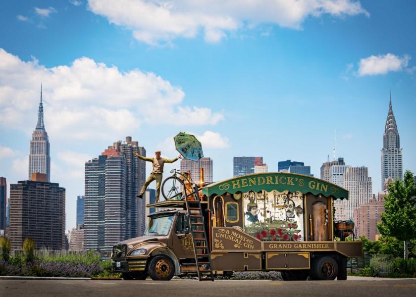Hendrick's Gin Celebrates Launch Of Giant Cucumber Garnisher In Style photo