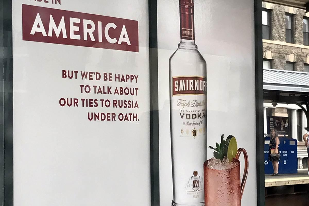 Smirnoff Vodka Aims Top Shelf Snark At Trump photo