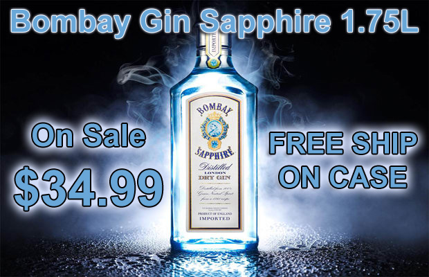 Bombay Gin Sapphire 1.75L FREE SHIP oN CASE photo
