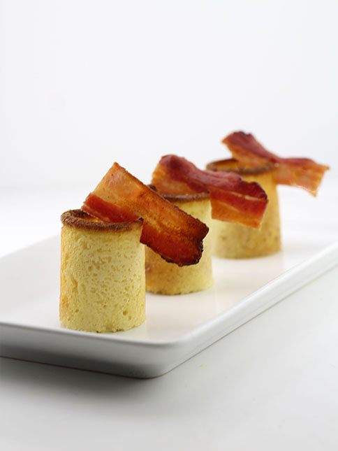 Make Your Own Pancake Shot Glasses Filled With Maple Syrup and Bacon photo
