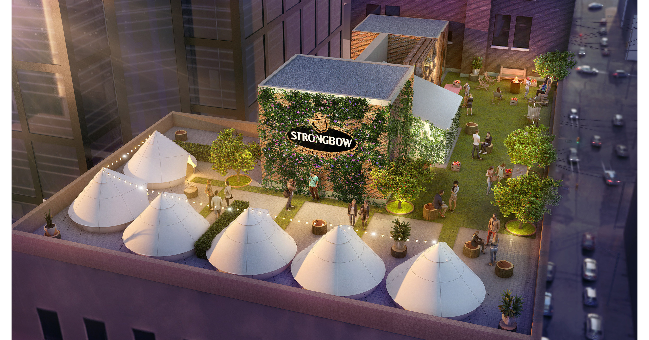 Strongbow's Orchard Glampground Brings Rooftop Camping To Toronto photo