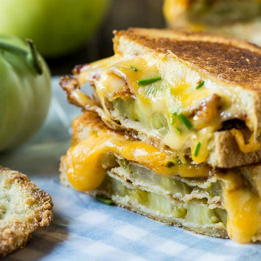 Fried Green Tomato and Bacon Grilled Cheese Sandwich photo