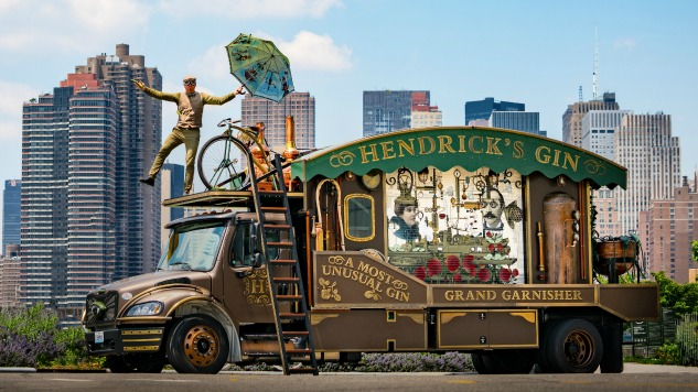 Hendrick's Is Rolling Around The U.s. In This Giant Cucumber 'garnisher' photo