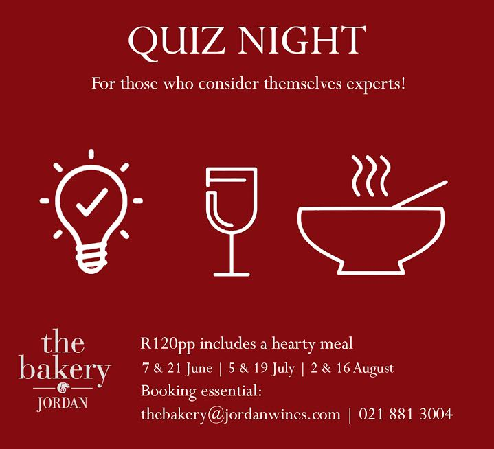 Test your knowledge at Quiz Night at The Bakery at Jordan photo