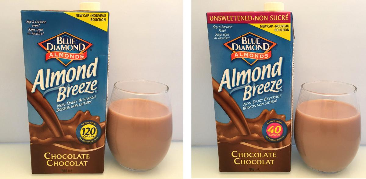 The Savvy Eater: Almond Breeze Sweetened Chocolate Vs. Unsweetened Chocolate Non-dairy Milk photo