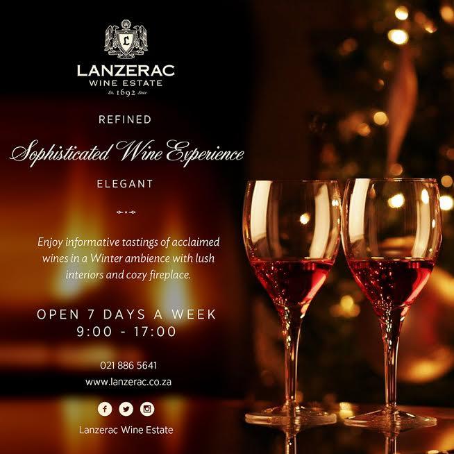 Lanzerac's Tasting Room open for the Winter Season photo
