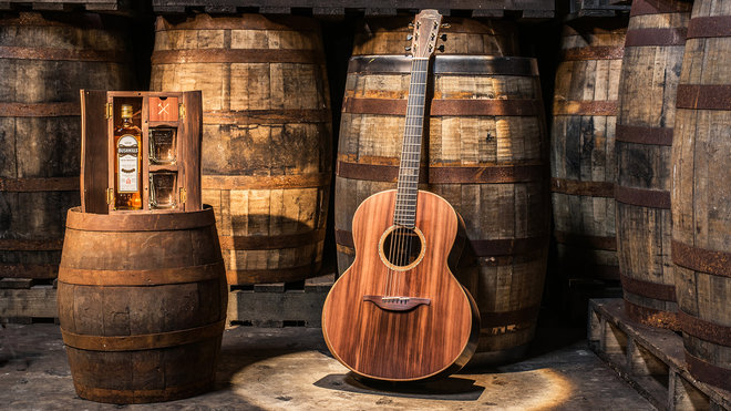 This Guitar Was Built With Wood From Bushmills Irish Whiskey Barrels photo
