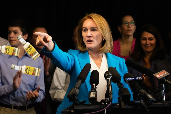 Former Federal Prosecutor Jenny Durkan Throws Tequila At All Ages Crowd photo