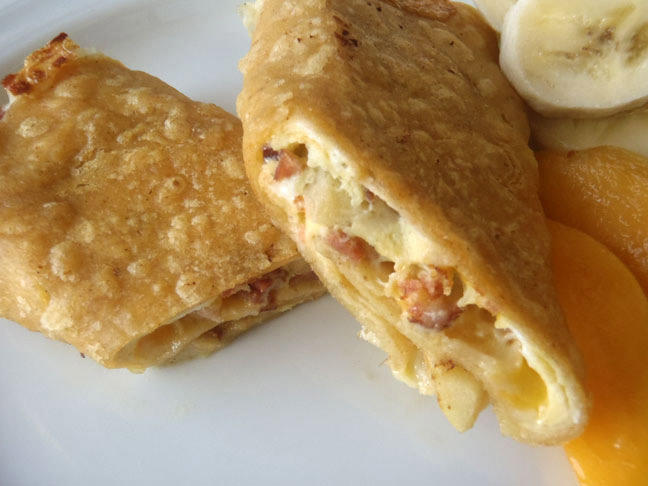 Apple and Bacon Breakfast Burrito photo