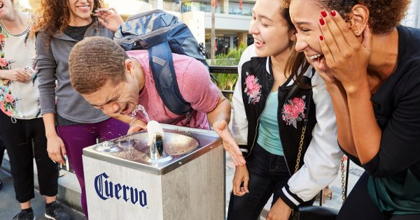 For National Tequila Day, 3 L.a. Water Fountains Were Upgraded To Dispense Jose Cuervo Silver photo