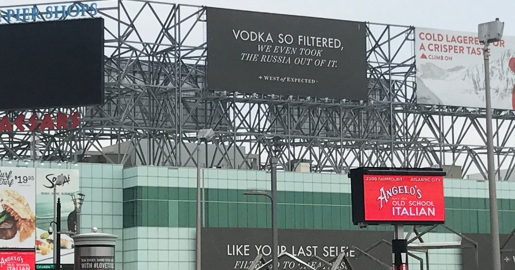 Skyy Vodka Seems To Troll Trump With Russia Billboard In Atlantic City photo