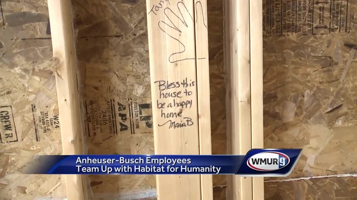 Budweiser Employees, Habitat For Humanity Building Home In Nashua photo
