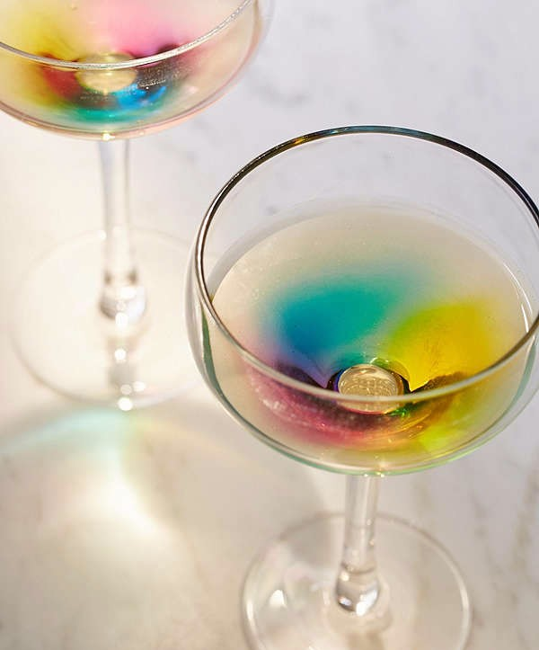 These Cocktail Glasses Turn Your Drinks Into Rainbows photo