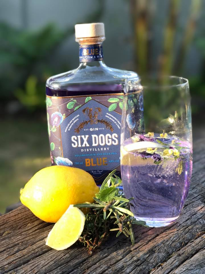 six dogs blue in glass Feel all Royal with this Blue Gin from South Africa