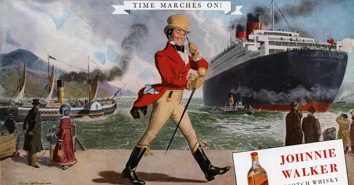 A Visual History Of Johnnie Walker?s Striding Man Logo photo