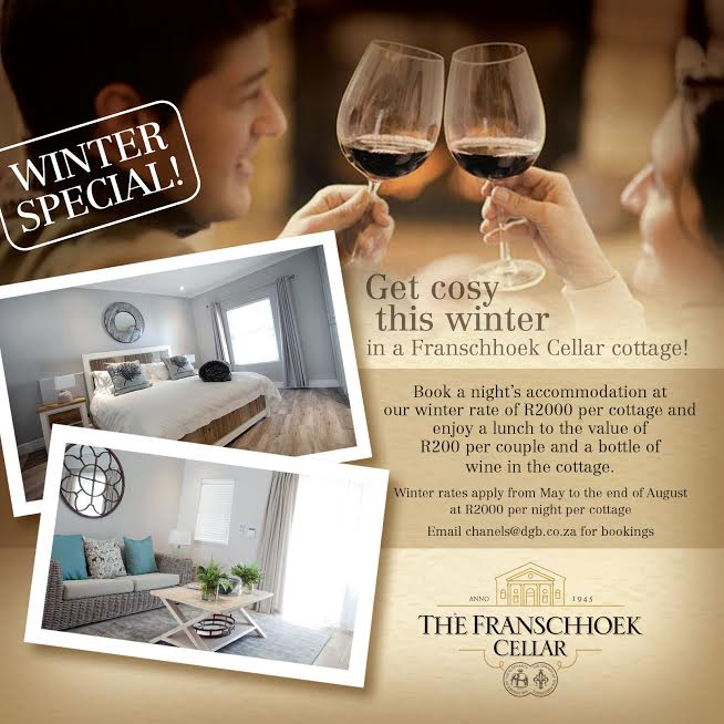 Get cosy this winter in The Franschoek Cellar Cottage photo