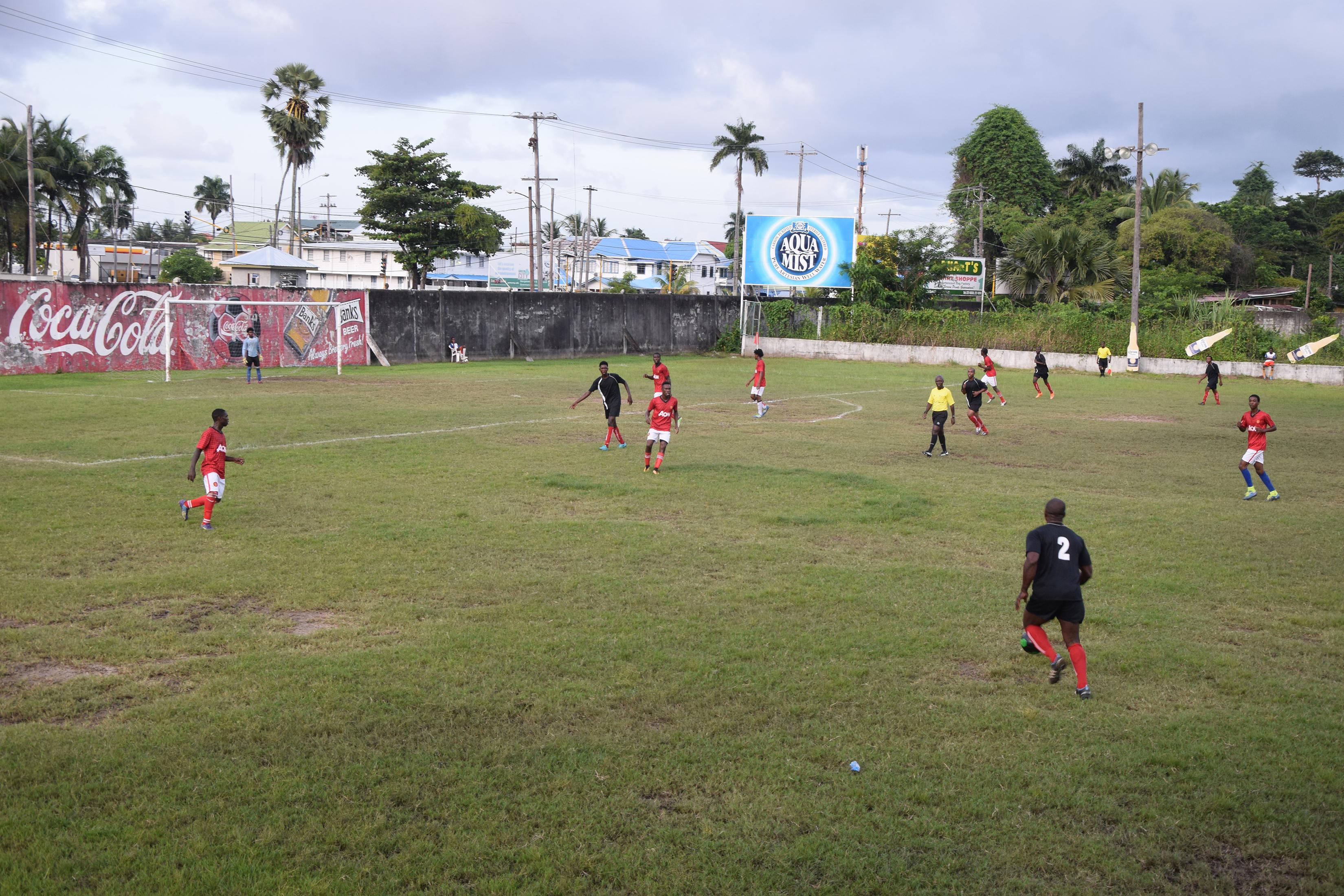 Gfc Whips Gpf 3-0 In Corona Beer Invitational Football Tournament photo