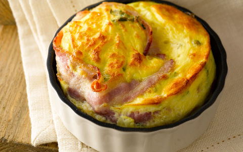 Bacon, Eggs and Spinach Pies photo