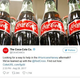 Coca-cola Bottle Cap Codes Converted Into Donations For Hurricane Harvey Victims photo