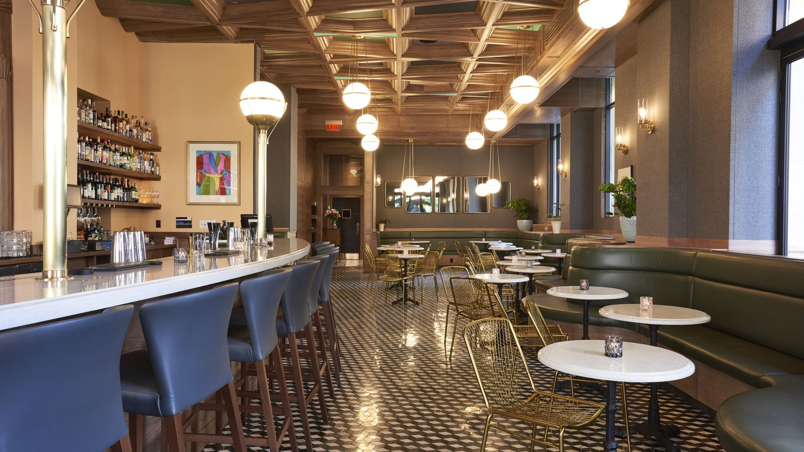 Tour The Swank New Opal Bar In Dossier Hotel photo