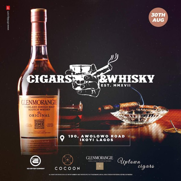 Scotland's Finest Brand Glenmorangie Single Malt Whisky In Collaboration With Ice Entertainment & Cocoon Lagos Present 'whisky And Cigars' photo