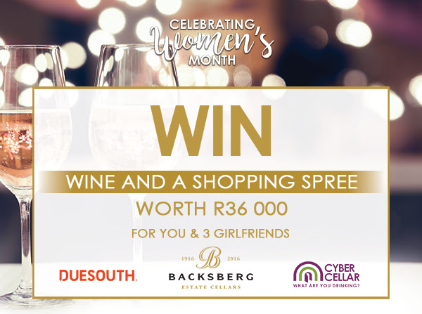 Backsberg is giving away R36000 in shopping vouchers and wine for you and 3 girlfriends! photo
