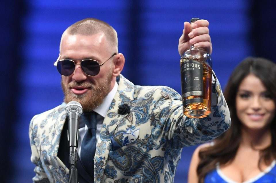 conor mcgregor holding notorious whisky Conor McGregor ready to cash in with his Notorious whiskey