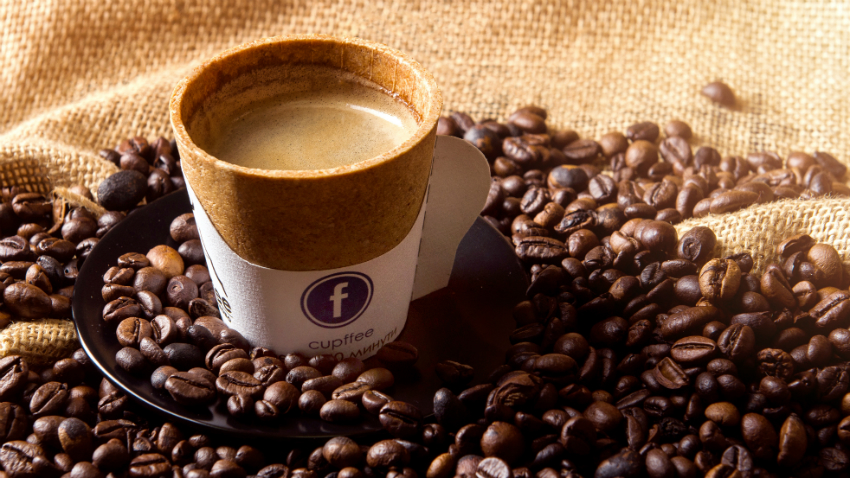 A Company Created A Coffee Cup You Can Eat As A Solution To Our Problem With Plastic photo