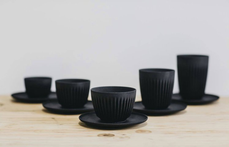 These sustainable coffee cups are made from actual coffee photo