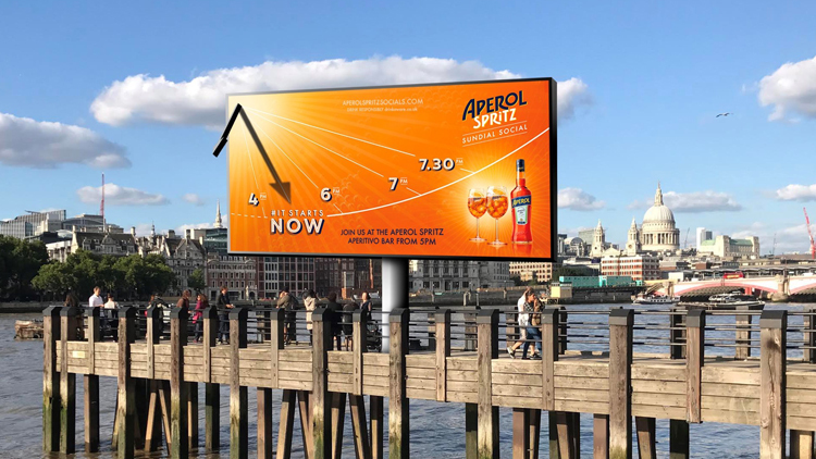 Get A Free Aperol Spritz At This Giant South Bank Sundial-bar photo